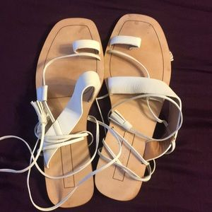 Elie Tahari lace up calf sandals